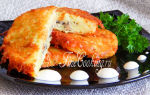 Картофельные драники с грибами и сыром