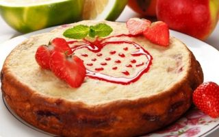 Творожный торт с фруктами в мультиварке