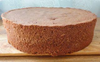 Шоколадный бисквитный торт без муки