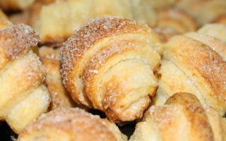 Домашнее творожное печенье, приготовленное в духовке