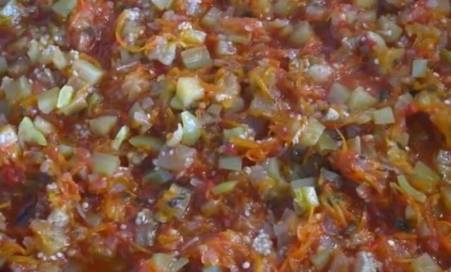 Соте из овощей с баклажанами на зиму