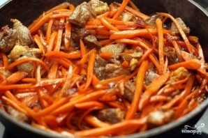 Вкусный плов из баранины на сковороде