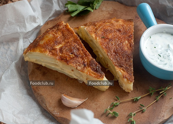 Испанская тортилья: рецепт картофельной запеканки на сковороде