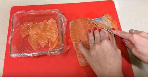 Роллы с красной рыбой в домашних условиях