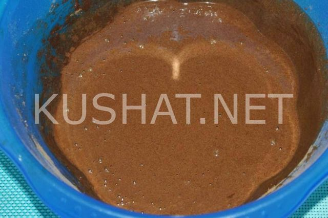Шоколадный манник на кефире