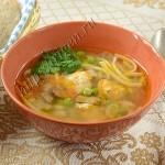 Овощной суп с кабачками и с мясом индейки