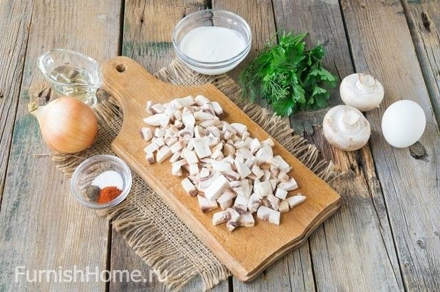 Кулёчки из слоеного теста с грибами и курицей