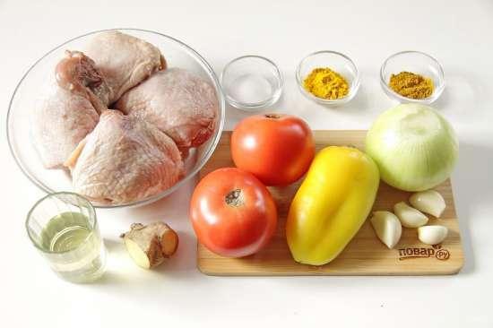 Курица с помидорами в духовке от Джейми Оливера