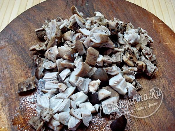 Ленивый бризоль из фарша с грибами