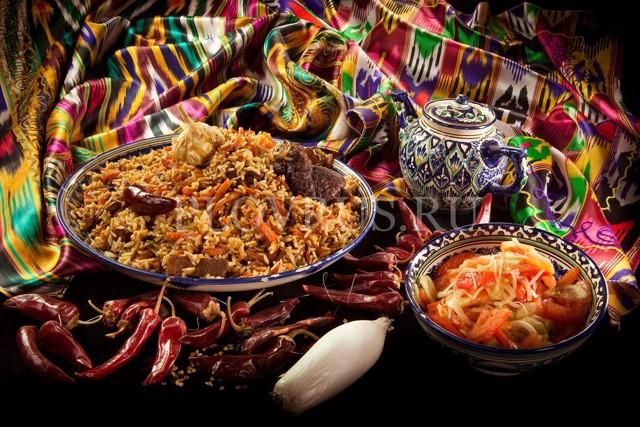 Настоящий узбекский плов с говядиной в казане