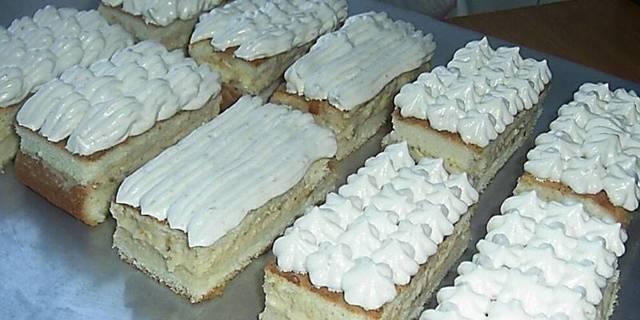 Бисквитное пирожное с кремом