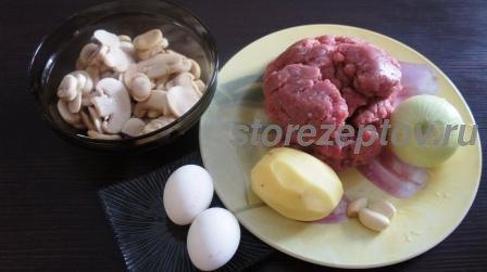 Котлеты с начинкой из грибов