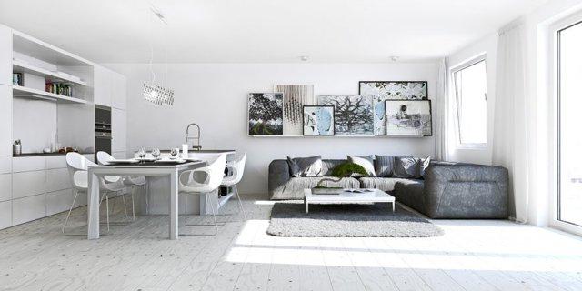 Современный дизайн квартиры - студии