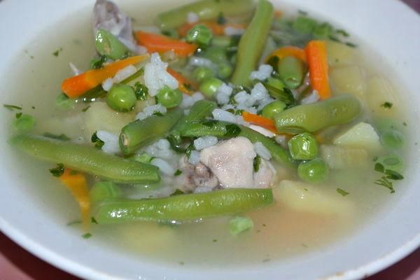 Суп со стручковой фасолью и курицей