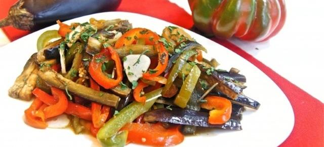 Овощное соте из баклажанов