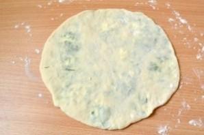 Хычины с сыром и зеленью на кефире