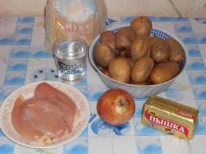 Пирог Курник с курицей