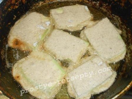 Жареные кабачки в кляре с чесноком и майонезом